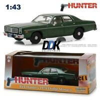 GREENLIGHT 86537 1978 DODGE MONACO RICK HUNTER'S GREEN DIECAST CAR 1:43