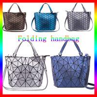 丿丿Geometric Luminous Women Handbag Holographic Reflective Matte handbag Holiday