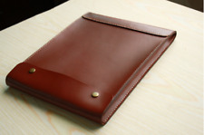 iPad laptop cover Briefcase file folder pocket cow Leather bag Personalized Z920