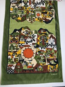 Vintage Hilasal Towel Northwest Native Indian Design Signed