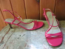 Talbots Patent Leather Pink Strap Heel Sandal Slingback  Size 10 AA