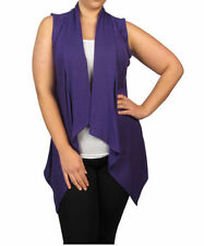 Plus Size Rayon Thin Knit Jumpers & Cardigans for Women