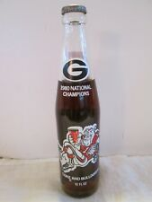 Vintage Coca Cola Commemorative Bottle - National Champions Bulldogs