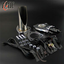 """2.5"""" 63MM Electric Stainless Exhaust Cutout with Switch control Pipe Exhaust"""
