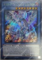 BLUE-EYES CHAOS DRAGON LDS2-EN017 SECRET RARE YUGIOH LEGENDARY DUELIST SEASON 2