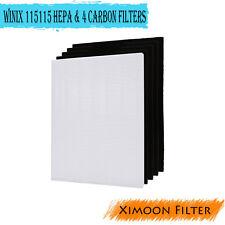Replace Winix 115115 Filter + 4 Carbon Filters PlasmaWave Size 21 5300 5500 6300