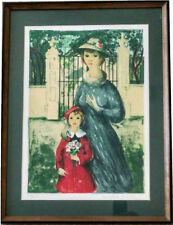 Antoine Serneels Litho., Mother & Daughter, Limited Edition Authenticated Signed