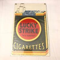 Vintage ANDE ROONEY Porcelain Sign - Lucky Strike Cigarettes Camel Tobacco New