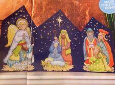 (X6) Holy Night Nativity Scene Angel Star Christmas Cross Stitch Chart