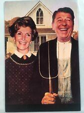 Ronald & Nancy Reagan 'American Gothic' 1981 American Postcard Company Unused