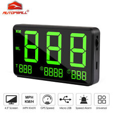 Universal HUD Digital GPS Speedometer MPH Overspeed Warning For Car Motorcycle