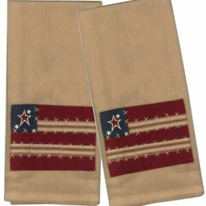 Stars and Stripes Towel by Raghu - Set of 2