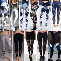 ❉❉Women Sports Pants High Waist Yoga Fitness Leggings Running Stretch Trousers