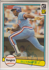 Autographed 1982 Donruss Billy Sample - Rangers
