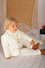 ABITO vestito COMPLETINO DI LINO color PANNA BATTESIMO NEONATO PAGETTO cod 838