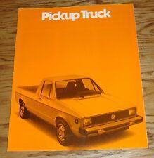 Original 1980 Volkswagen VW Pickup Truck Sales Brochure 80