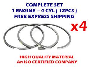 4cyl Piston Rings Set 69mm STD for Renault 08-450000-10 1149cc Petrol TD16272