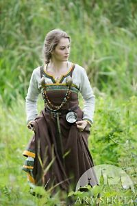 """20% DISCOUNT! Viking Apron """"Ingrid the Hearthkeeper"""" for LARP, brown color"""