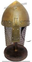 Chainmail Helmet Medieval Armor Full Brass Spartan Warrior Helmet