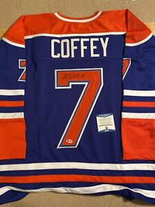 Paul Coffey Signed/Autographed Edmonton Oilers Stitched Blue Jersey Beckett COA