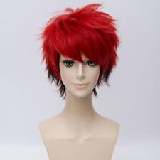 30CM Mixed Red Short Hair for Taichi Nanao Ombre Anime Cosplay Wig Halloween+Cap