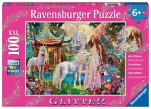 NEW Ravensburger -Princess with Unicorn Puzzle 100pc Kids Children Toy AU
