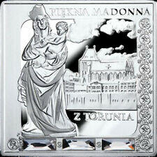 Niue 2014 1$ Beautiful Madonna of Torun Missing Works of Art Proof Silver Coin