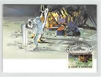 S. TOME MK WELTRAUM MONDLANDUNG SPACE MOONLANDING CARTE MAXIMUM CARD MC CM m227
