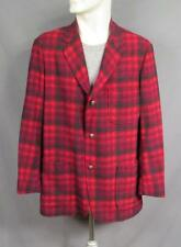 Vintage 1960s Pendleton Wool Shadow Plaid 49er Jacket Disneyland Frontierland M