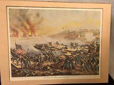 "LithoGraph On Board 16""x12"" Battle of Fredericksburg.See10pix4d etails.Make Offer"