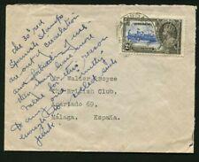 1935 Silver Jubilee Gibraltar 2d en portada a España