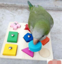 Educational Colorful Wooden Bird Toy Parrot Training Products Bird Supplies D253