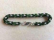 Hibernian / Celtic unisex handmade chain maille bracelet