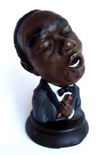 American Jazz singer/musician-Louis Satchmo Armstrong-Coloured resin bust-Vintag