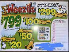Weezils *Free Shipping pull tab tickets casino bingo fundraising
