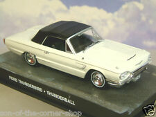 1/43 JAMES BOND 007 1965 FORD THUNDERBIRD IN WHITE FROM THUNDERBALL SEAN CONNERY