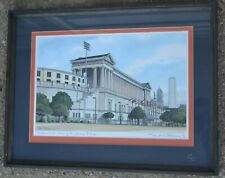 """SIGNED CARL (C.H.) JOHNSON """"Soldier Field- Home of the Chicago Bears"""" (1990)"""