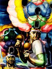 PAINTING MULTI COLOURED AFRO MARACAS SOUTH AMERICAN FINE ART POSTER CC3383