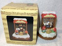 "Vintage 1984 Enesco Santas Workshop ""Toyland"" Small World Of Music, Music Box"