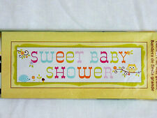 """NEW~HAPPI TREE ~1 GIANT SWEET BABY SHOWER BANNER -60"""" X 20""""-    PARTY SUPPLIES"""