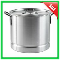 Aluminum Steamer Pot 32 Qt. With Lid & Removable Steam Tray Cooking Tamale Crab