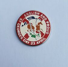 RED English & Proud St Georges Day 23rd April Badge Enamel Pin Badge England.