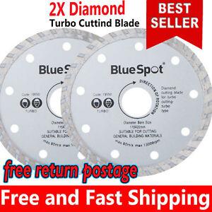 2X  Angle Grinder Discs Thin 115mm 4.5'' Turbo Diamond Tile Dry Cutting Disc