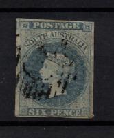 South Australia 1856 6d slate blue SG10 fine four margin used WS22167