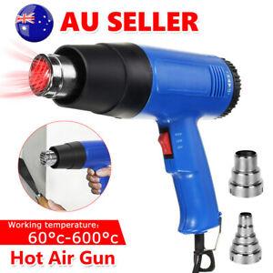 Heat Gun Stamping Craft 220V Electric Hot Air AU 2 Nozzle Temperature Adjustable