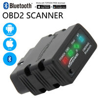 ELM327 Bluetooth OBD2 OBDII Car Code Reader Diagnostic Scanner For Android PC W6