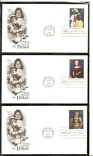 US SC # 3151a-3151o American Dolls FDC. Artcraft Cachet