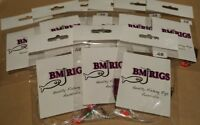 BM RIGS 8 x Whiting Rig Fishing Rigs Paternoster with flasher circle hooks 20lb