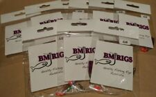 BM RIGS 10 x Whiting Rig Fishing Rigs Paternoster with flasher circle hooks 20lb