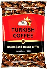 ✅ 50 pack- Elite Turkish Ground Roasted Coffee Bag 3.5 oz (100g)  New